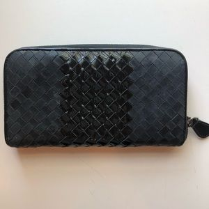 Bottega Veneta Black woven wallet